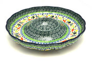"Ceramika Artystyczna Polish Pottery Dish - Vegetable and Dip - 10"" - Unikat Signature - U4849 A22-U4849 (Ceramika Artystyczna)"