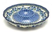 "Ceramika Artystyczna Polish Pottery Dish - Vegetable and Dip - 10"" - Winter Viola A22-2273a (Ceramika Artystyczna)"