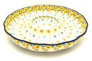 "Ceramika Artystyczna Polish Pottery Dish - Vegetable and Dip - 12"" - Buttercup A23-2225a (Ceramika Artystyczna)"