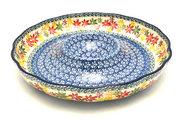 "Ceramika Artystyczna Polish Pottery Dish - Vegetable and Dip - 12"" - Maple Harvest A23-2533a (Ceramika Artystyczna)"