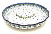 "Ceramika Artystyczna Polish Pottery Dish - Vegetable and Dip - 12"" - Silver Lace A23-2158a (Ceramika Artystyczna)"