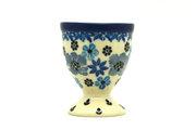 Ceramika Artystyczna Polish Pottery Egg Cup - Denim Daisy 106-1985a (Ceramika Artystyczna)