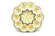 Ceramika Artystyczna Polish Pottery Egg Plate - 10 Count - Buttercup 718-2225a (Ceramika Artystyczna)