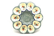 Ceramika Artystyczna Polish Pottery Egg Plate - 10 Count - Cherry Blossom 718-2103a (Ceramika Artystyczna)