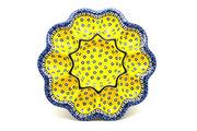 Ceramika Artystyczna Polish Pottery Egg Plate - 10 Count - Sunburst 718-859a (Ceramika Artystyczna)