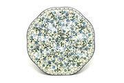 Ceramika Artystyczna Polish Pottery Egg Plate - 8 Count - Forget-Me-Knot A24-2089a (Ceramika Artystyczna)