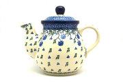 Ceramika Artystyczna Polish Pottery Gooseneck Teapot - 20 oz. - Blue Clover 119-1978a (Ceramika Artystyczna)