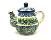 Ceramika Artystyczna Polish Pottery Gooseneck Teapot - 20 oz. - Ivy Trail 119-1898a (Ceramika Artystyczna)