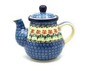 Ceramika Artystyczna Polish Pottery Gooseneck Teapot - 20 oz. - Maraschino 119-1916a (Ceramika Artystyczna)