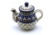 Ceramika Artystyczna Polish Pottery Gooseneck Teapot - 20 oz. - Primrose 119-854a (Ceramika Artystyczna)