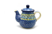 Ceramika Artystyczna Polish Pottery Gooseneck Teapot - 20 oz. - Tranquility 119-1858a (Ceramika Artystyczna)