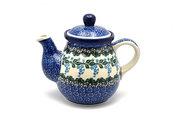 Ceramika Artystyczna Polish Pottery Gooseneck Teapot - 20 oz. - Wisteria 119-1473a (Ceramika Artystyczna)