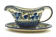 Ceramika Artystyczna Polish Pottery Gravy Boat - Winter Viola 239-2273a (Ceramika Artystyczna)