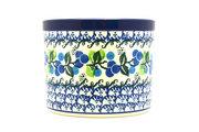 Ceramika Artystyczna Polish Pottery Herb Pot - Blue Berries D52-1416a (Ceramika Artystyczna)