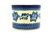 Ceramika Artystyczna Polish Pottery Herb Pot - Blue Poppy D52-163a (Ceramika Artystyczna)