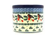 Ceramika Artystyczna Polish Pottery Herb Pot - Red Robin D52-1257a (Ceramika Artystyczna)