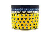 Ceramika Artystyczna Polish Pottery Herb Pot - Sunburst D52-859a (Ceramika Artystyczna)