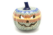 Ceramika Artystyczna Polish Pottery Jack-o-lantern - Large - Autumn D40-050a (Ceramika Artystyczna)