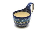 Ceramika Artystyczna Polish Pottery Loop Handle Bowl - Antique Rose 845-1390a (Ceramika Artystyczna)