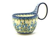 Ceramika Artystyczna Polish Pottery Loop Handle Bowl - Blue Bells 845-1432a (Ceramika Artystyczna)