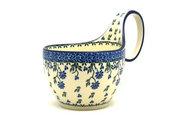 Ceramika Artystyczna Polish Pottery Loop Handle Bowl - Blue Clover 845-1978a (Ceramika Artystyczna)