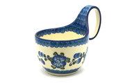 Ceramika Artystyczna Polish Pottery Loop Handle Bowl - Blue Poppy 845-163a (Ceramika Artystyczna)