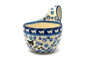 Ceramika Artystyczna Polish Pottery Loop Handle Bowl - Boo Boo Kitty 845-1771a (Ceramika Artystyczna)