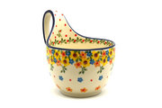 Ceramika Artystyczna Polish Pottery Loop Handle Bowl - Buttercup 845-2225a (Ceramika Artystyczna)