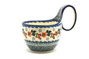 Ceramika Artystyczna Polish Pottery Loop Handle Bowl - Cherry Blossom 845-2103a (Ceramika Artystyczna)