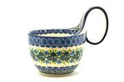 Ceramika Artystyczna Polish Pottery Loop Handle Bowl - Ivy Trail 845-1898a (Ceramika Artystyczna)