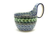 Ceramika Artystyczna Polish Pottery Loop Handle Bowl - Kiwi 845-1479a (Ceramika Artystyczna)