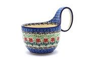 Ceramika Artystyczna Polish Pottery Loop Handle Bowl - Maraschino 845-1916a (Ceramika Artystyczna)