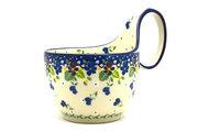 Ceramika Artystyczna Polish Pottery Loop Handle Bowl - Plum Luck 845-2509a (Ceramika Artystyczna)