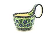 Ceramika Artystyczna Polish Pottery Loop Handle Bowl - Sweet Violet 845-1538a (Ceramika Artystyczna)