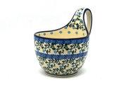Ceramika Artystyczna Polish Pottery Loop Handle Bowl - Terrace Vines 845-1822a (Ceramika Artystyczna)