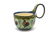 Ceramika Artystyczna Polish Pottery Loop Handle Bowl - Unikat Signature U2663 845-U2663 (Ceramika Artystyczna)