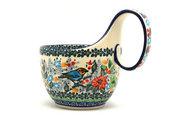 Ceramika Artystyczna Polish Pottery Loop Handle Bowl - Unikat Signature U3184 845-U3184 (Ceramika Artystyczna)
