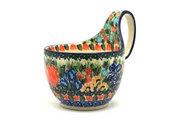 Ceramika Artystyczna Polish Pottery Loop Handle Bowl - Unikat Signature U3516 845-U3516 (Ceramika Artystyczna)