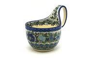Ceramika Artystyczna Polish Pottery Loop Handle Bowl - Unikat Signature U4520 845-U4520 (Ceramika Artystyczna)