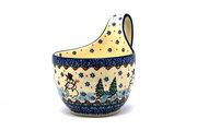 Ceramika Artystyczna Polish Pottery Loop Handle Bowl - Unikat Signature U4661 845-U4661 (Ceramika Artystyczna)