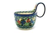 Ceramika Artystyczna Polish Pottery Loop Handle Bowl - Unikat Signature U4695 845-U4695 (Ceramika Artystyczna)