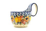 Ceramika Artystyczna Polish Pottery Loop Handle Bowl - Unikat Signature U4741 845-U4741 (Ceramika Artystyczna)