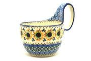 Ceramika Artystyczna Polish Pottery Loop Handle Bowl - Unikat Signature U4860 845-U4860 (Ceramika Artystyczna)