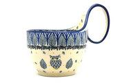 Ceramika Artystyczna Polish Pottery Loop Handle Bowl - Unikat Signature U4873 845-U4873 (Ceramika Artystyczna)