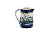 Ceramika Artystyczna Polish Pottery Miniature Pitcher - Blue Spring Daisy 315-614a (Ceramika Artystyczna)