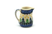 Ceramika Artystyczna Polish Pottery Miniature Pitcher - Christmas Trees 315-1284a (Ceramika Artystyczna)