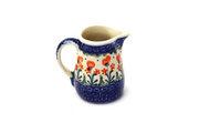 Ceramika Artystyczna Polish Pottery Miniature Pitcher - Peach Spring Daisy 315-560a (Ceramika Artystyczna)