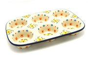 Ceramika Artystyczna Polish Pottery Muffin Pan - Buttercup 811-2225a (Ceramika Artystyczna)