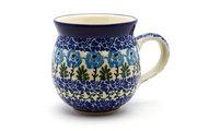 Ceramika Artystyczna Polish Pottery Mug - 11 oz. Bubble - Antique Rose 070-1390a (Ceramika Artystyczna)