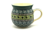 Ceramika Artystyczna Polish Pottery Mug - 11 oz. Bubble - Aztec Forest 070-1919q (Ceramika Artystyczna)